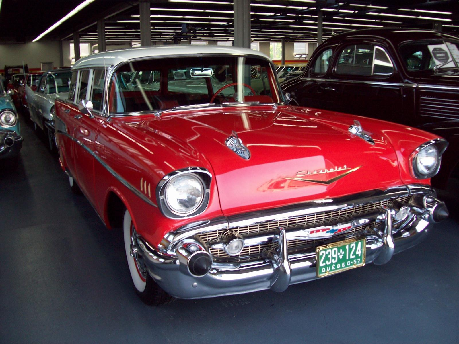 Used 1957 chevrolet belair wagon for sale in saint l onard john scotti classic cars h1r 2y7 2070727